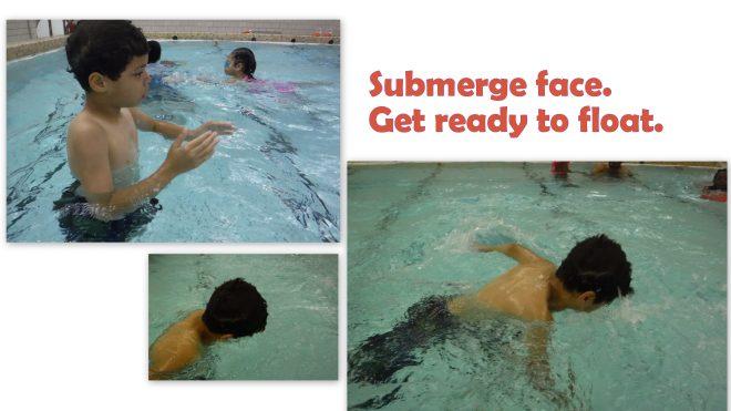 Submerge face photo frame.