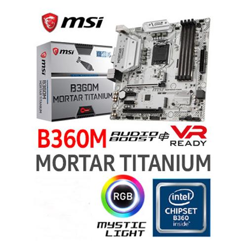 Board Msi B360m Mortar Titanium Intel 1151 - Clones y Periféricos