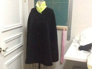 cape with collar draft