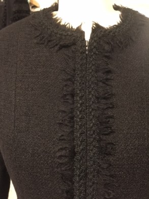 Black jacket closeup