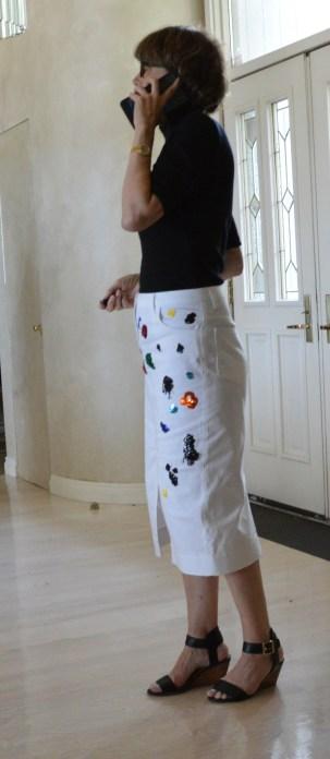 Finished skirt