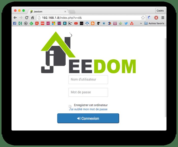 Page de connexion Jeedom