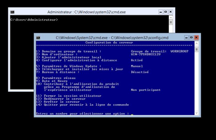 Ecran de démarrage Hyper V Server