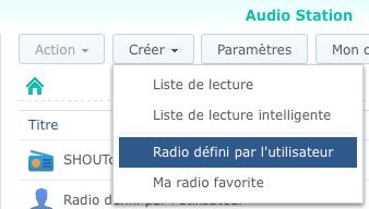 Création d'une Radio