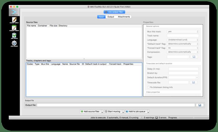 Modifier vos fichiers mkv avec MKVToolNix - cloriou fr
