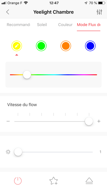 Yeelight - Mode Flux de Couleur