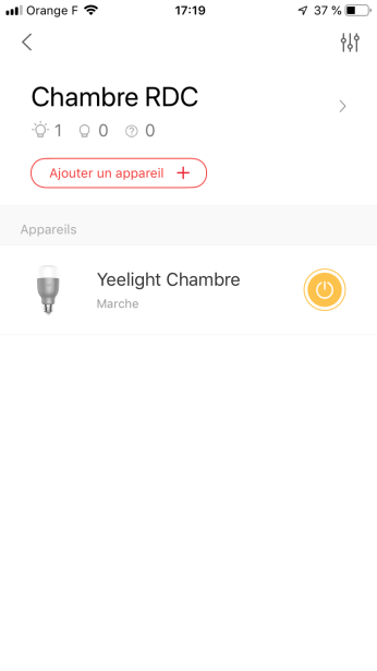 Yeelight - Creation de pièces