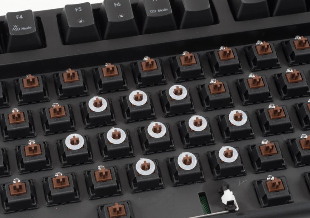 medium resolution of a few o rings installed on a mechanical keyboard