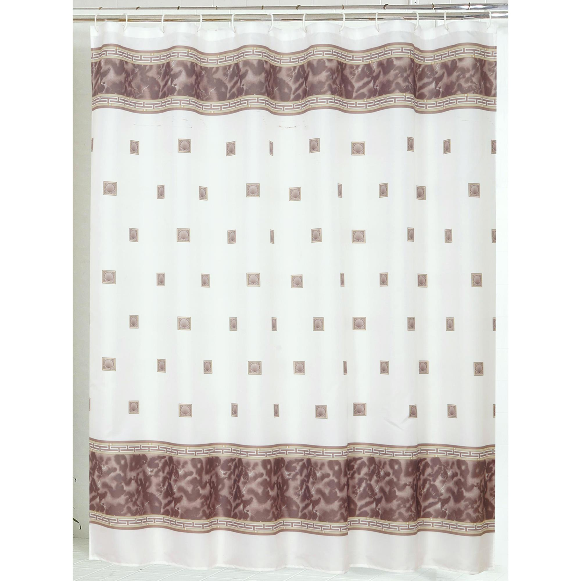 Details About Carnation Home Windsor Fabric Shower Curtain In 70x72 Brown