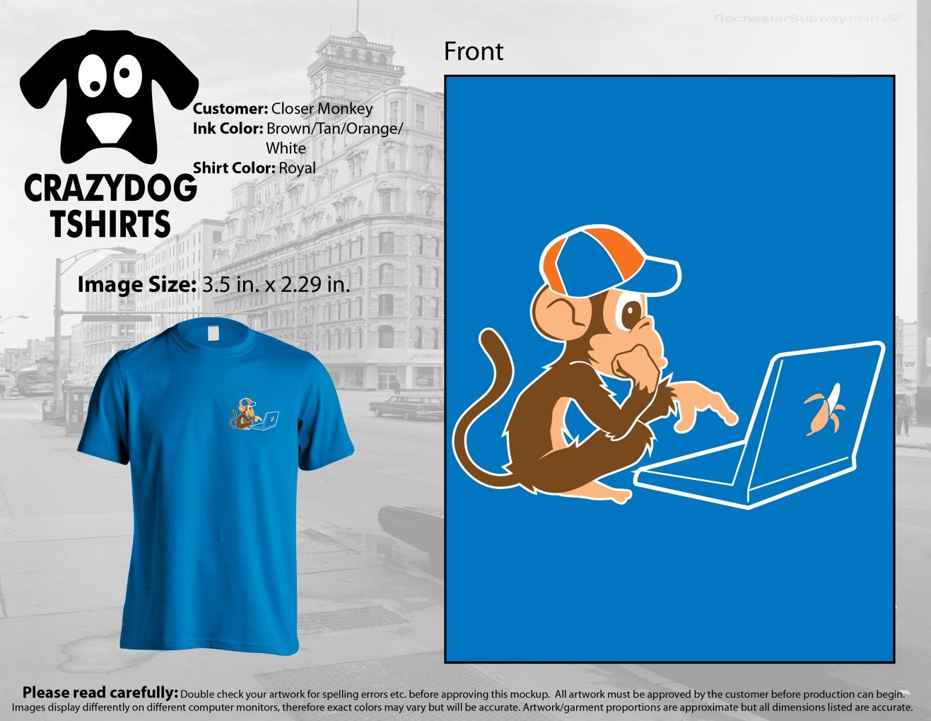 Closer Monkey T-shirt in blue