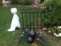 Happy Halloween, the final end result of yard decor 2012 ...