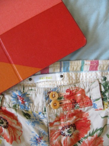 Hei Hei pants from Anthropologie and Fossil iPad case