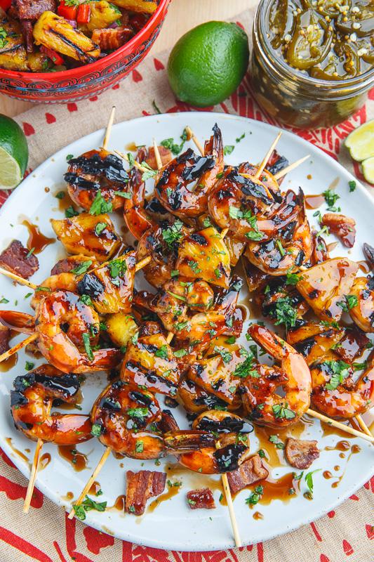 Marinated Teriyaki Shrimp Skewers With Bacon And Pineapple : marinated, teriyaki, shrimp, skewers, bacon, pineapple, Teriyaki, Grilled, Shrimp, Pineapple, Closet, Cooking