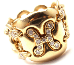 Hermes Diamond & Gold Ring