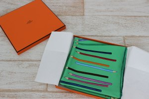 Hermes A Vos Crayons Silk Scarf