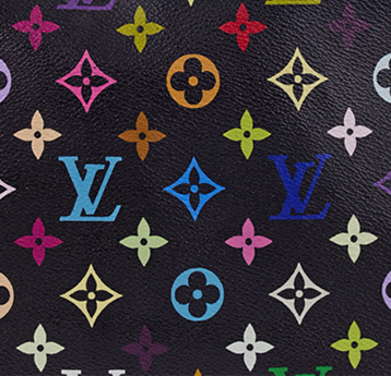 Louis Vuitton Black Multicolore Canvas