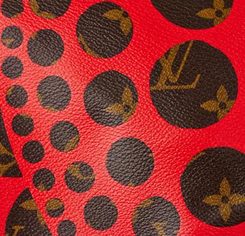 Louis Vuitton Red Circle Monogram Canvas