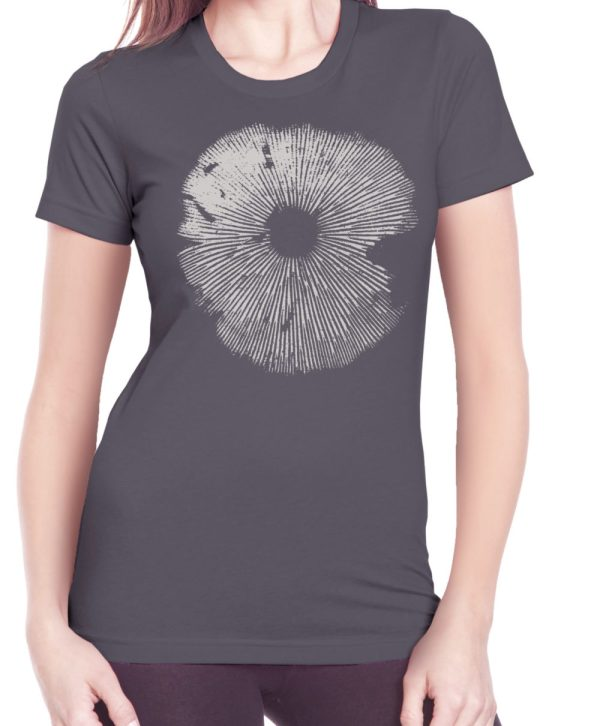 b plus spore print screen printed women's t shirt from Closet of Mysteries