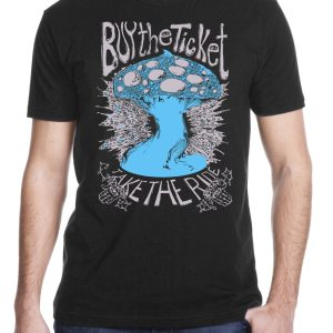 buy the ticket Men's screen printed t shirt from Closet of Mysteries