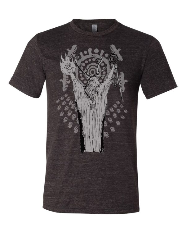 Deer shaman shirt triblend edition by Closet of Mysteries
