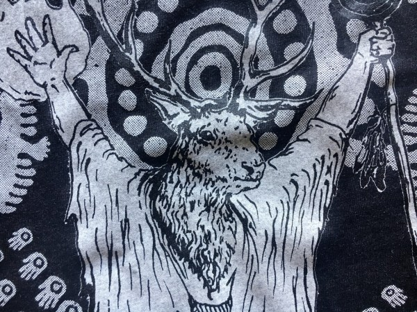 Deer shaman shirt triblend edition
