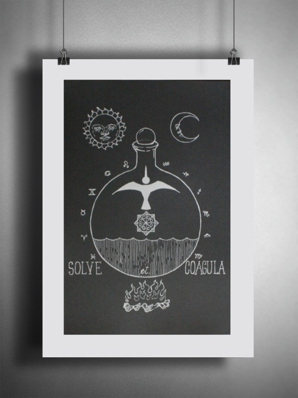solve et coagula alchemy poster by Closet of Mysteries