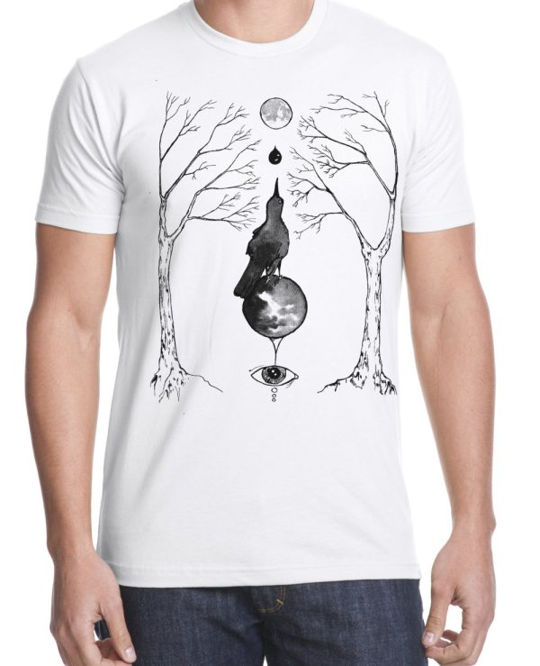 magical grackle shirt original occult artwork by Closet of Mysteries