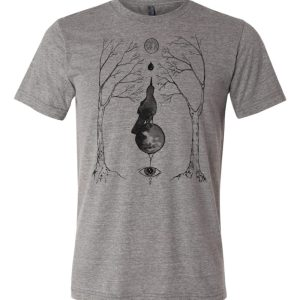 Magical Grackle Triblend shirt original occult artwork by Closet of Mysteries