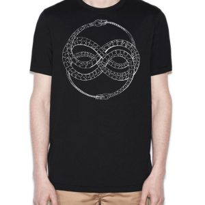 Ouroboros original screen print shirt design by Closet of Mysteries