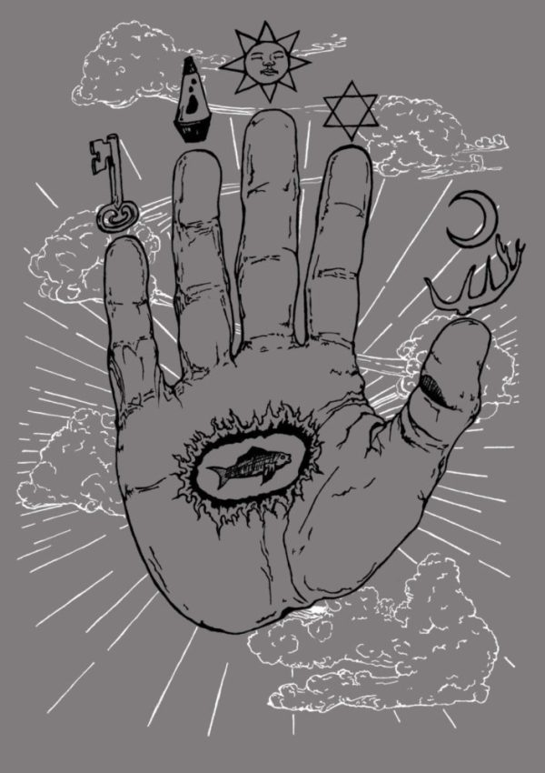Hand of Mysteries shirt design by Closet of Mysteries