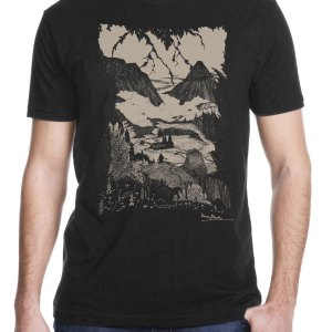 "Harry Clarke ""Landor's Cottage"" Shirt for Edgar Allan Poe's story printed by Closet of Mysteries"