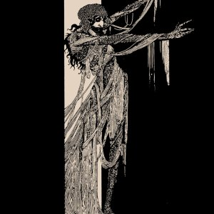 "Harry Clarke ""Fall of the House of Usher"" shirt illustration for Edgar Allan Poe story printed by Closet of Mysteries"