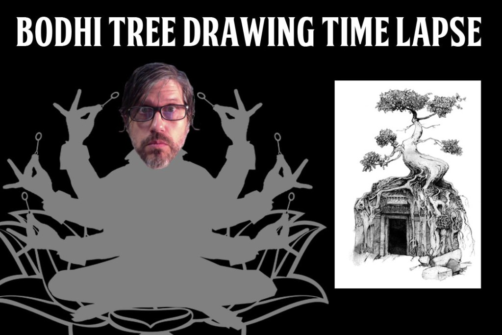 Bodhi tree drawing time lapse video