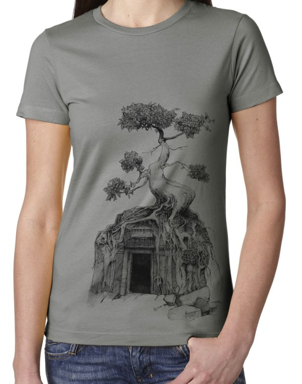 Ladies' Angkor Wat Shirt original design by Closet of Mysteries
