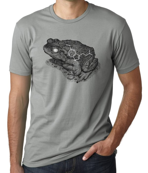 Sonoran Desert Toad Shirt Bufo Alvarius with 5MEO DMT Molecule by Closet of Mysteries