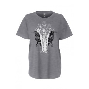 Ladies' Norse Shaman Shirt Flowy Tee by Closet of Mysteries