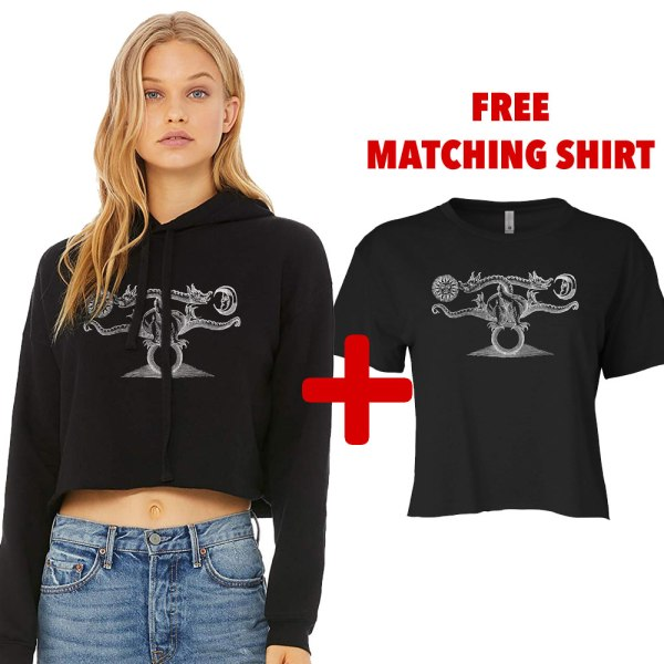 Alchemy dragon hoodie crop top by Closet of Mysteries