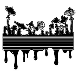 Drippy Psychedelic Mushroom shirt design by Closet of Mysteries