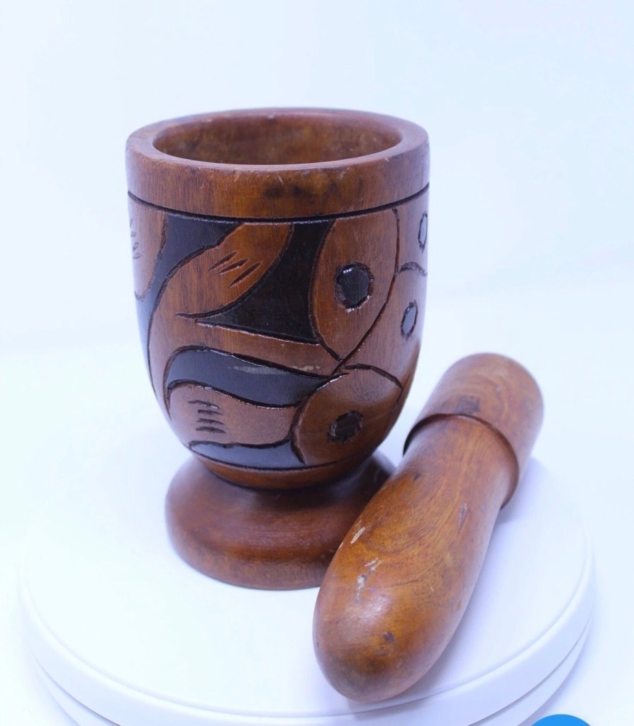 Wooden Pilon (Pestle and Mortar)