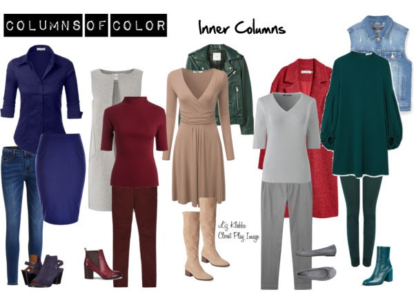 Polyvore Women's Clothing Illustrating Columns of Color