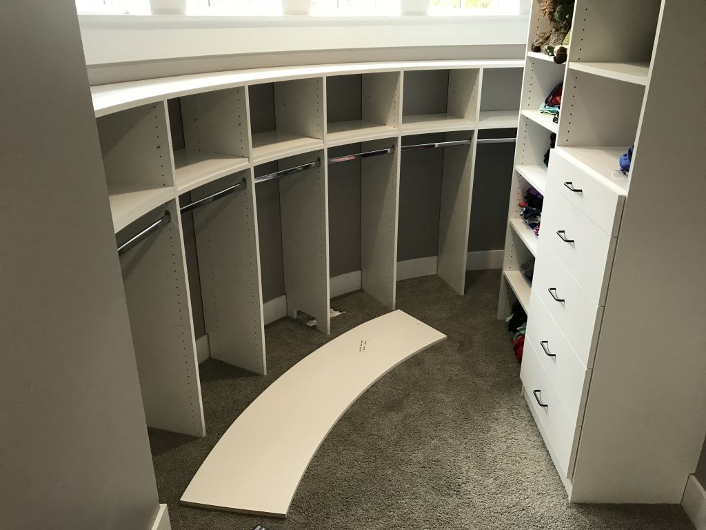 Curved Closet Walls Creative Closet Design  Closet Storage  Minneapolis  St Paul