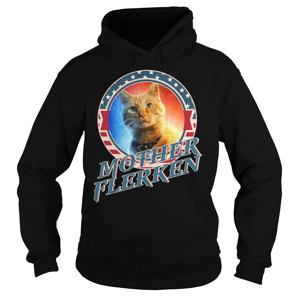 Captain Marvel Goose The Motherflerken Cat hoodie