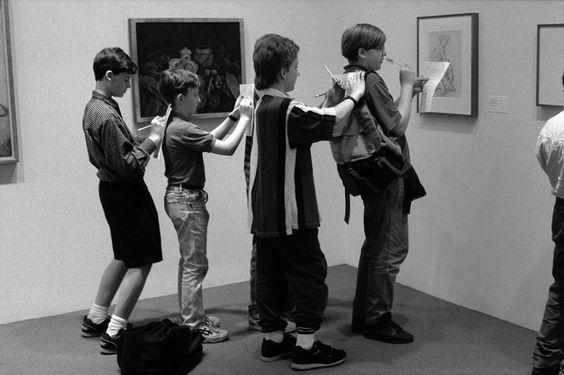 esperienza al museo attraverso l'obiettivo