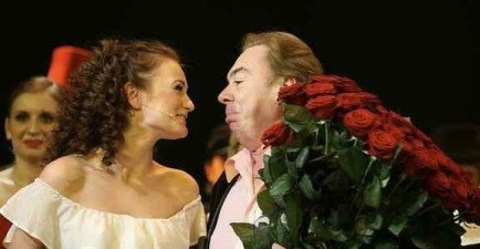 Paulina with Andrew Lloyd Webber