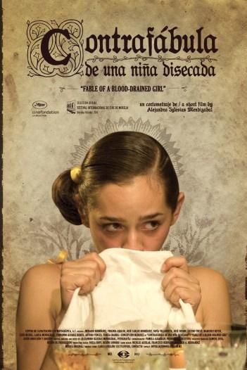 Póster de Contrafábula de una niña disecada, cortometraje dirigido por Alejandro Iglesias