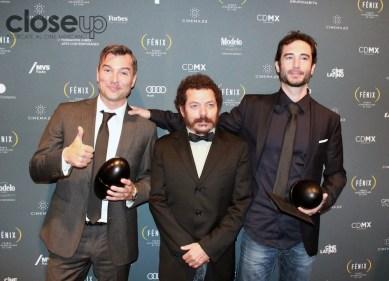 Matías Barberis, Raúl Locatelli y Jaime Baksht ganaron en la categoría de Sonido por La jaula de oro (Foto: Itzuri Sánchez Chávez)