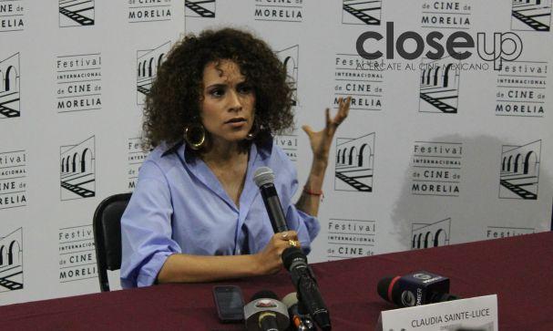 Claudia Sainte-Luce, directora y protagonista de La caja vacía, en competencia (Foto: Itzuri Sánchez)