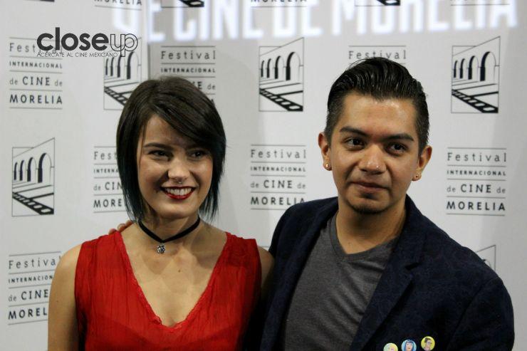 Sergio Flores Thorija y la actirz Clara Casagrande (Foto: Itzuri Sánchez)