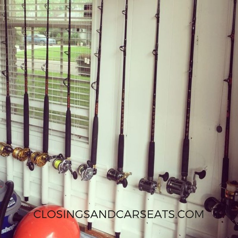 Easy Diy Fishing Rod Holder Closings And Car Seats