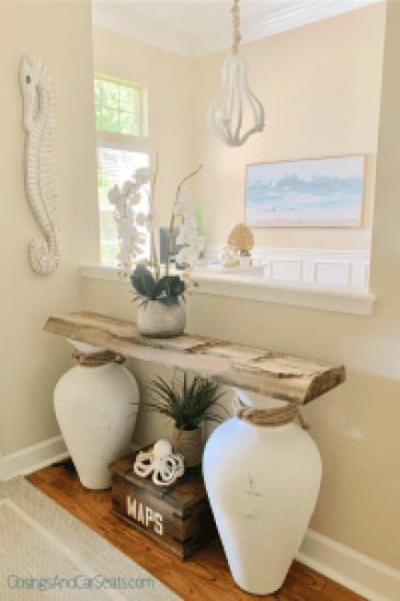 Coastal Home Decor and Coastal Light Fixture